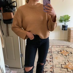 NWOT cable knit ribbed sweater